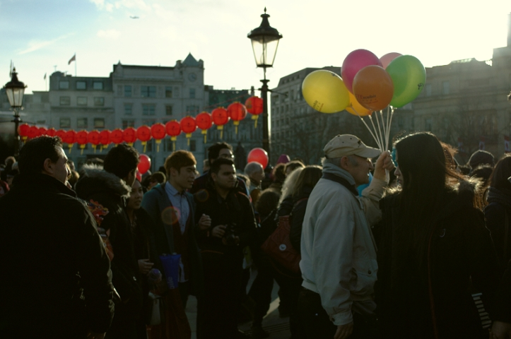 Man and His Balloons, Trafalgar Square
