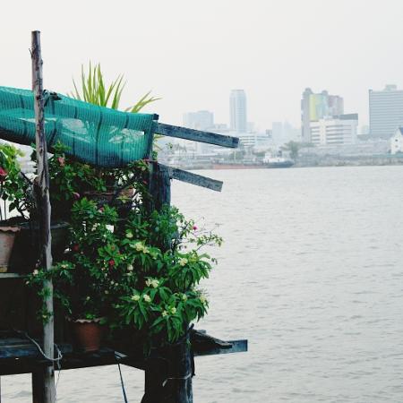 Bangkok, Bang Kachao, Klongtoei, Chao Phraya river, Ferry