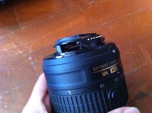 Broken Lens, Nikon, Camera,