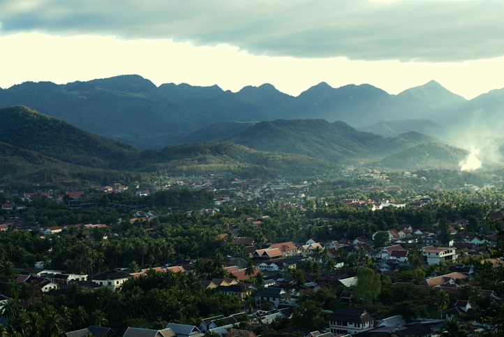 Looking south: the view of Luang Prabang from the top of Mount Phousi