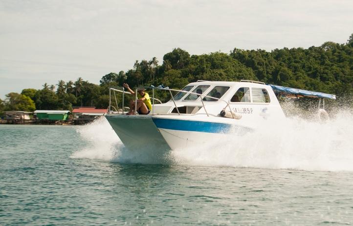 Speedboat, Semporna, Mabul, Kapalai, Sipadan, Sabah, Malaysia,