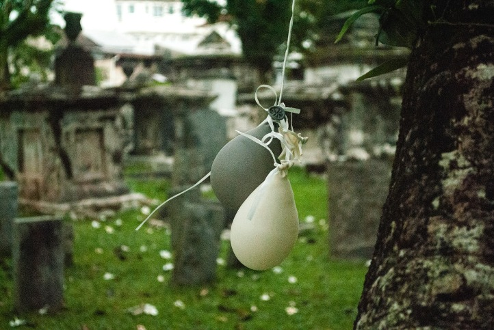 Balloons, grey balloons, protestant cemetery penang,